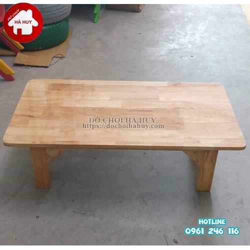 Bàn gỗ mầm non chân gỗ cao 30cm HC1-006-1