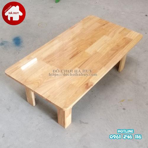 Bàn gỗ mầm non chân gỗ cao 30cm HC1-006-3
