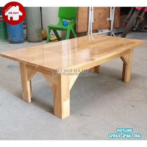 Bàn gỗ mầm non chân gỗ cao 30cm HC1-006-4