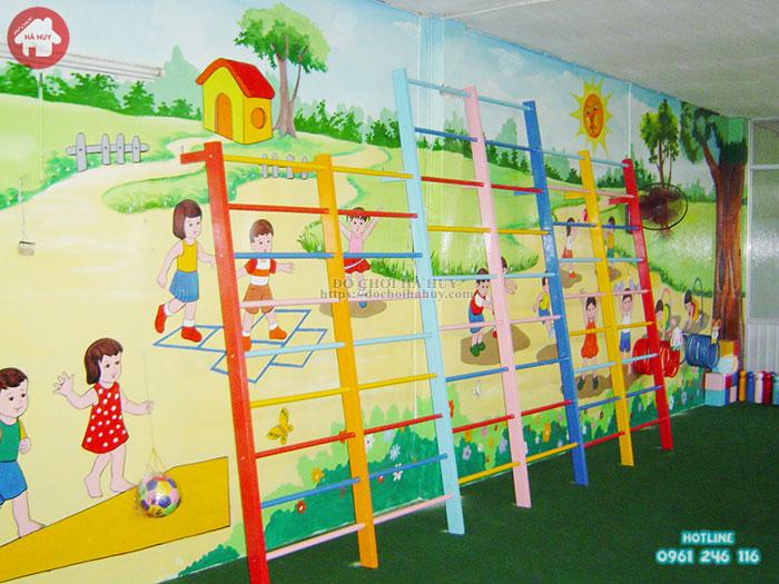 Thang leo mầm non thể dục 3 độ tuổi giá rẻ an toàn cho bé HB1-001
