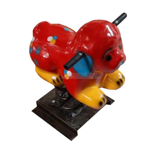 Thú nhún lò xo con chó đốm nhựa composite HB2-002