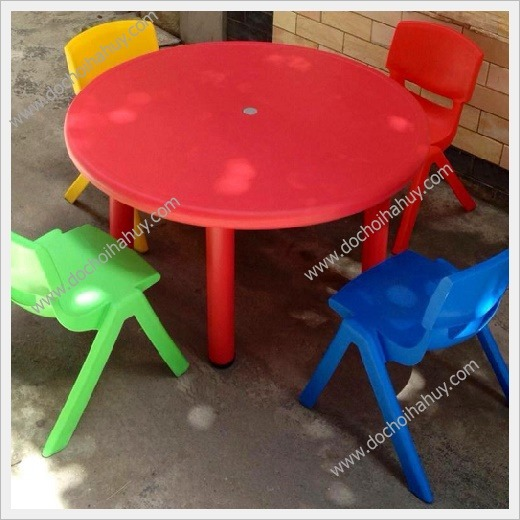 Hà Huy chuyên bán buôn, bán lẻ bàn nhựa đúc hình tròn cho bé Ban-nhua-duc-hinh-tron
