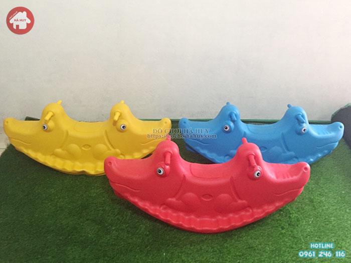 Bập bênh 2 chỗ ngồi con Cá Sấu HA5-018