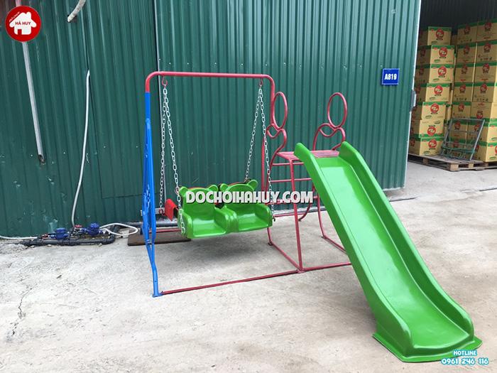 Bán cầu trượt ngoài trời xích đu đôi giá rẻ tại Hà Nội HB1-022