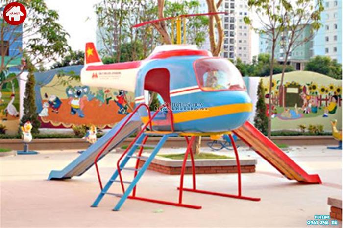 Cầu trượt trực thăng ngoài trời ngộ nghĩnh cho bé mầm non HB1-019