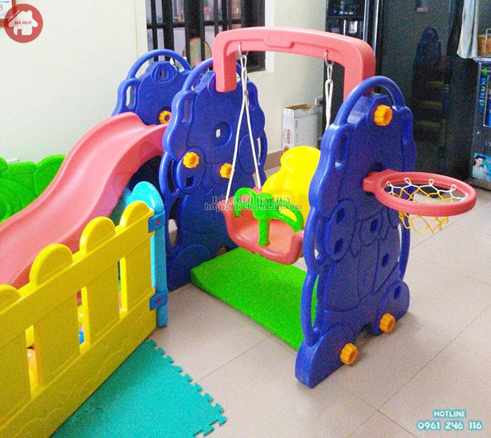 Cầu trượt xích đu con Voi nhập khẩu cho bé tại Hà Nội HA3-021