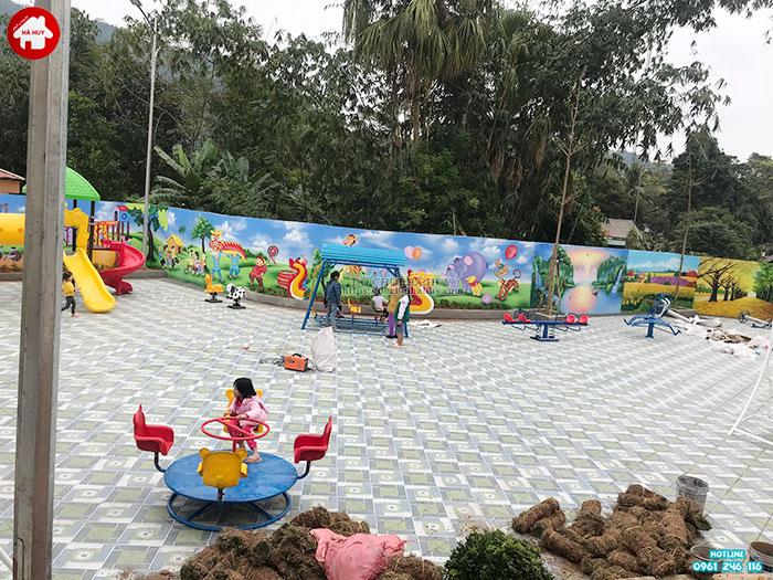 Đu quay mầm non 4 ghế gấu cho bé HB4-026 giá rẻ tại Hà Nội