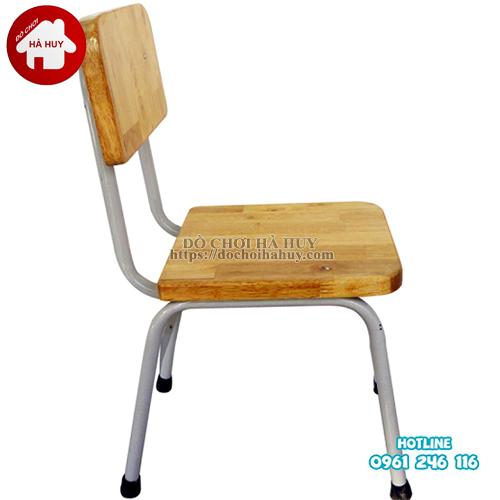 ghế gỗ mầm non chân sắt HC1-011