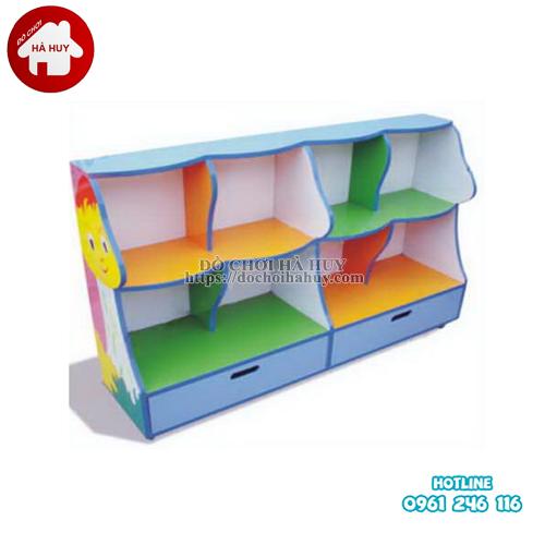 giá đồ chơi cây nấm 4 khoang 2 ô kéo HC5-018