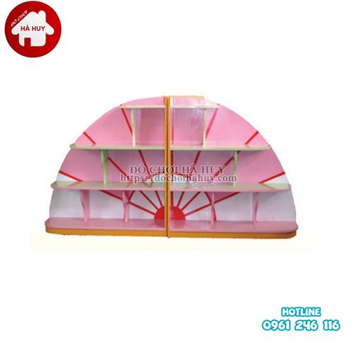 giá đồ chơi hình rẻ quạt 2 khối HC5-024