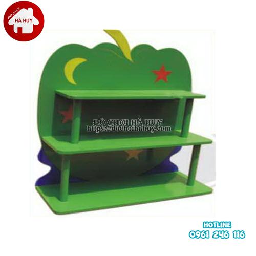 Giá đồ chơi quả táo xanh 3 tầng HC5-013