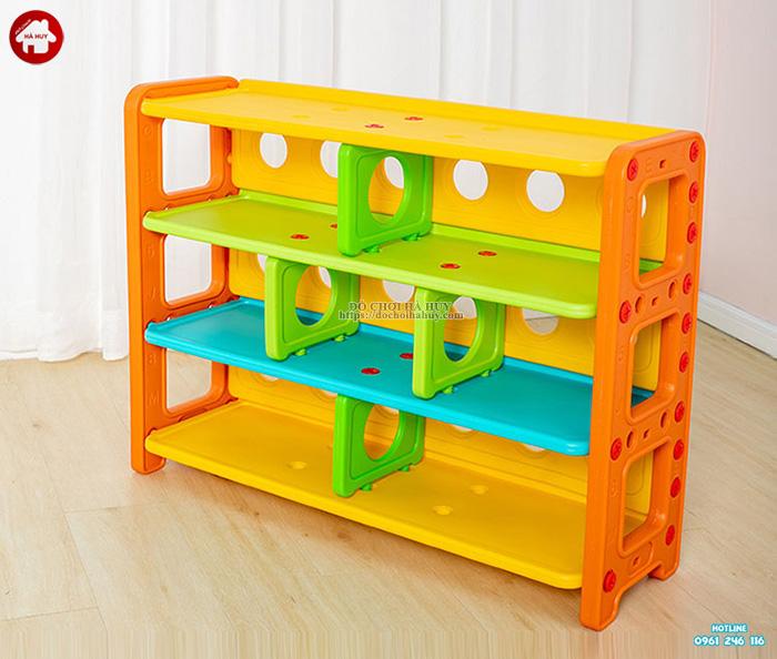 Giá để đồ chơi cho bé mầm non 7 ngăn HA2-011