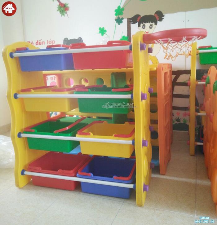 Giá để đồ chơi mầm non con Lợn nhựa nhập khẩu HA2-009