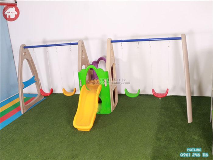 Nhà leo cầu trượt xích đu kép 616 HA-011
