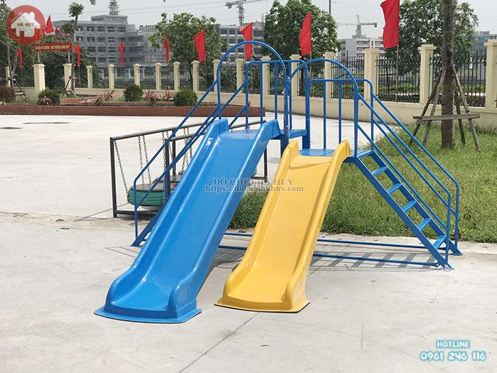 Thang leo cầu trượt 2 độ tuổi cho bé giá rẻ tại Hà Nội HB1-018