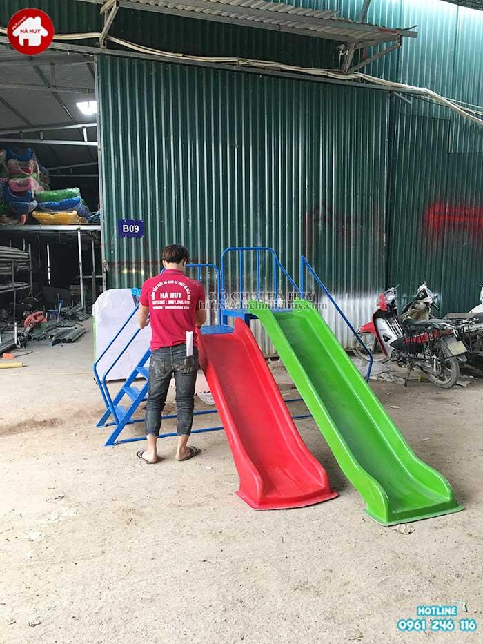 Thang leo cầu trượt 2 độ tuổi HB1-018-3
