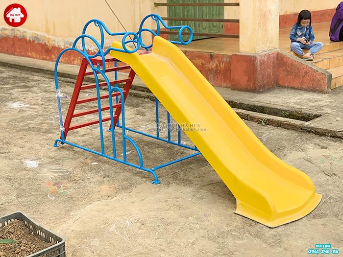 Thang leo cầu trượt con chó cho bé mầm non giá rẻ HB1-014