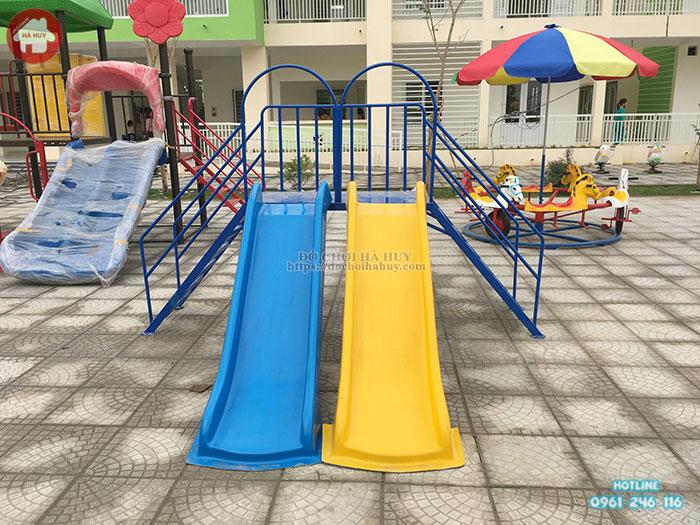 Thang leo cầu trượt đôi cho bé giá rẻ đẹp HB1-015