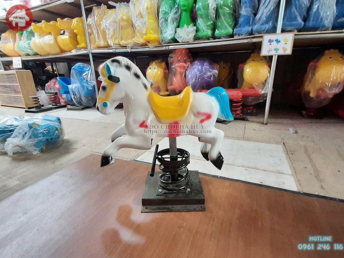 Thú nhún con ngựa nhựa composite HB2-001