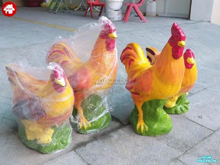 Tượng con gà trống và gà mái HB11-002