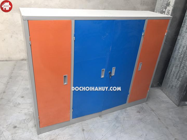 Tủ đựng chăn màn bằng sắt 4 cánh HC6-006