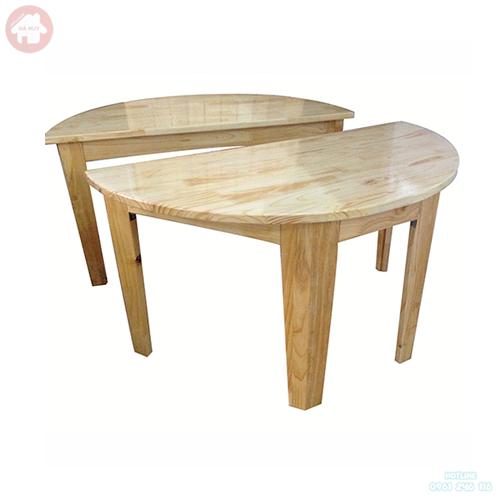Bàn gỗ mầm non hình bán nguyệt HC1-008