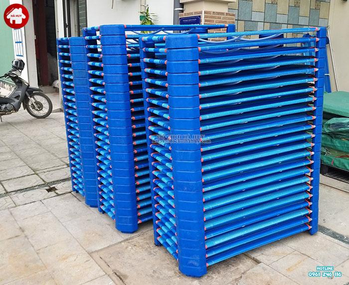 Giường lưới chân vuông HC1-015