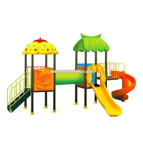 Bộ đồ chơi liên hoàn ngoài trời 2 khối ống chui đa năng HB10-008