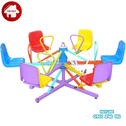 Đu quay 6 ghế ngồi cho bé mầm non HB4-027 giá rẻ tại Hà Nội