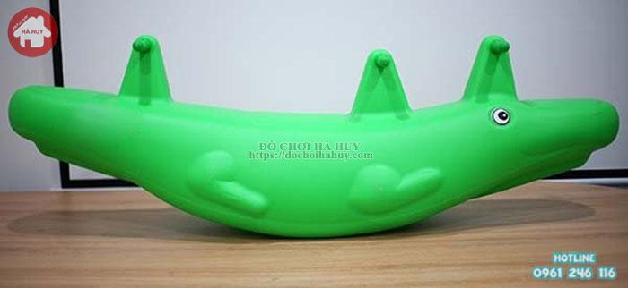 Bập bênh đôi Cá Sấu 3 chỗ ngồi HA5-025