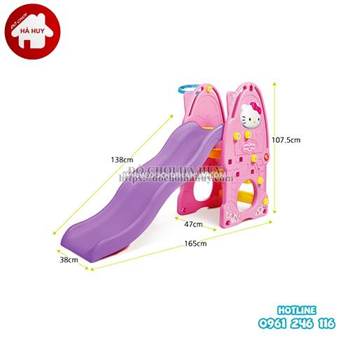 Cầu trượt đơn Hello Kitty cho bé nhập khẩu giá rẻ tại Hà Nội HA3-008
