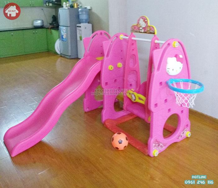 Cầu trượt đơn Hello Kitty cho bé nhập khẩu giá rẻ tại Hà Nội mã HA3-008