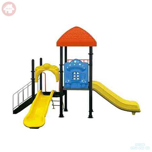 Nhà chòi cầu trượt đơn 1 khối cho bé HB6-012
