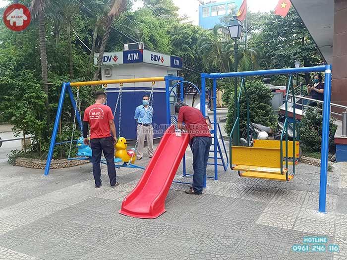 Thang leo xích đu cầu trượt cho bé mầm non HB1-013