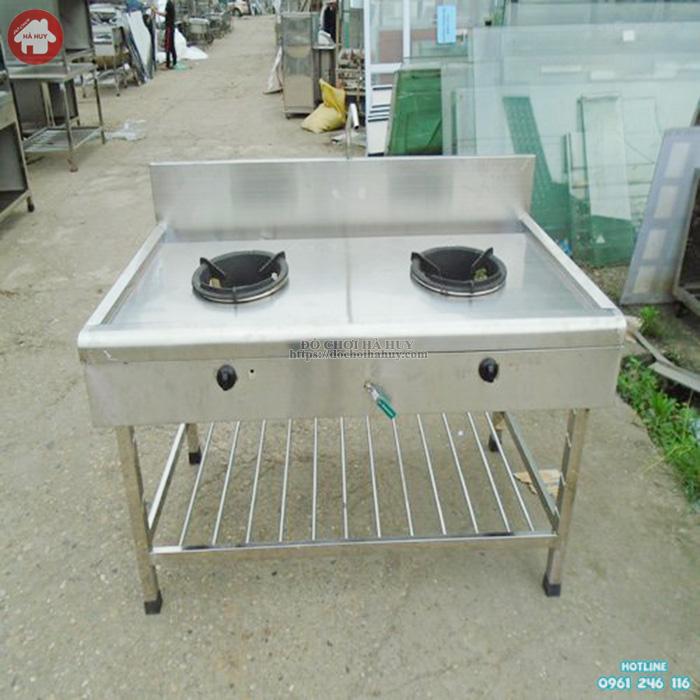 Bệ bếp gas đôi công nghiệp inox HD3-016 cao cấp tiện lợi