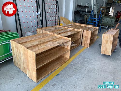 Giá mầm non 2 tầng gỗ tự nhiên HC4-003-5