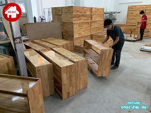 Giá mầm non 2 tầng gỗ tự nhiên HC4-003-6