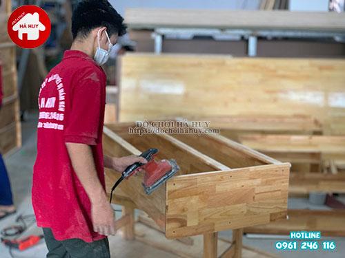 Giá mầm non 2 tầng gỗ tự nhiên HC4-003-7
