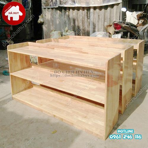 Giá mầm non 2 tầng gỗ tự nhiên HC4-003-1