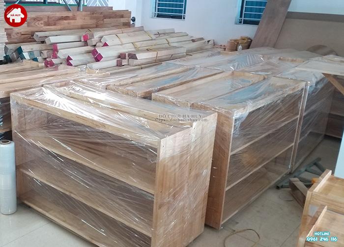 Giá để đồ mầm non 3 tầng không hậu HC4-004
