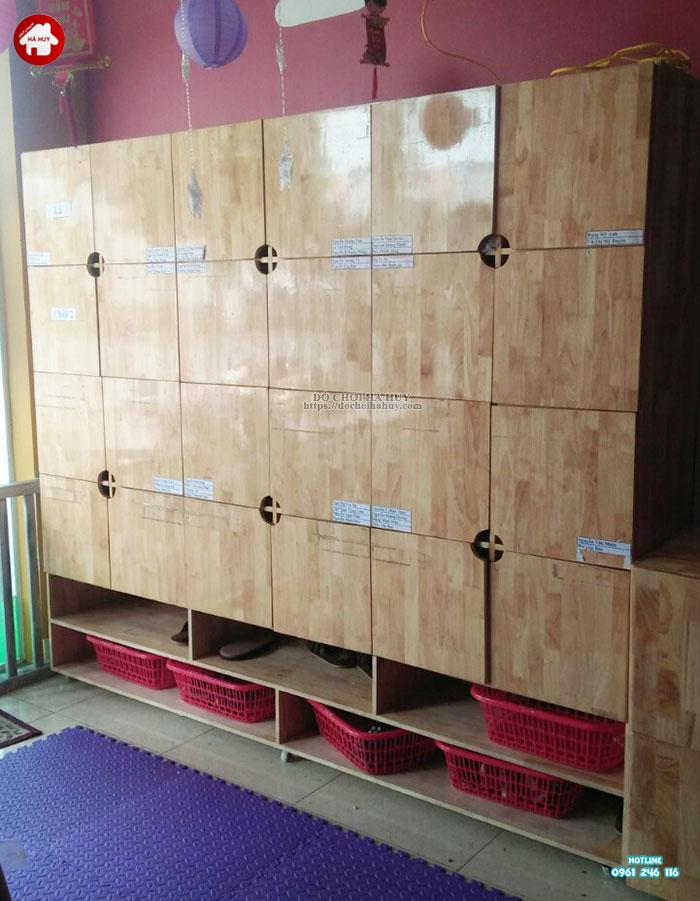 Tủ balo có cánh, có ngăn để giày dép HC4-015