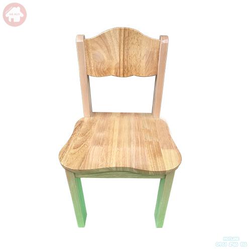 Ghế gỗ mầm non chân gỗ cao 28cm HC1-004