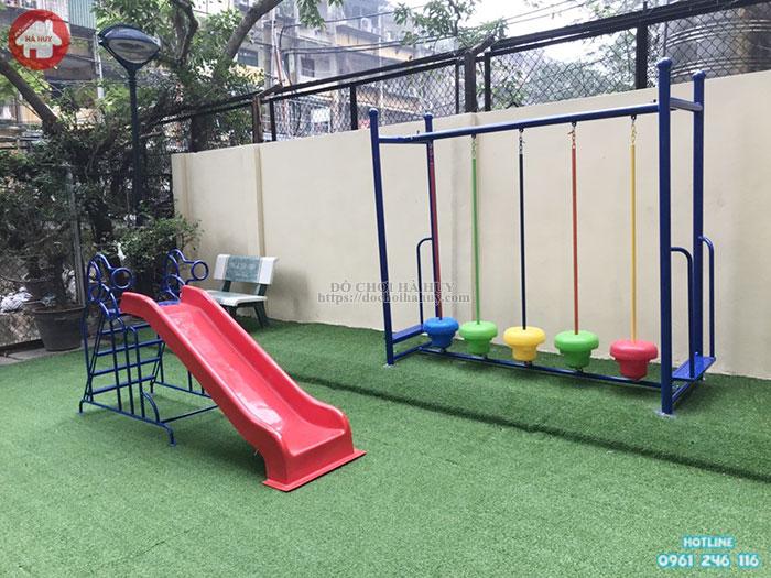 Cầu thăng bằng giao động cho bé mầm non giá rẻ tại Hà Nội HB1-020