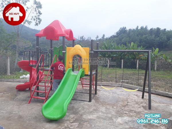 Sản xuất lắp đặt nhà liên hoàn ngoài trời, bập bênh 4 chỗ tại Lạng Sơn-4