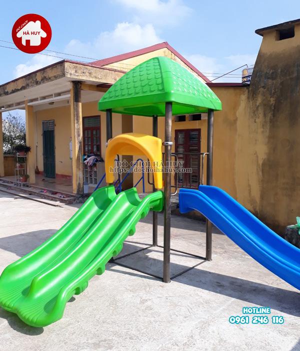 Lắp đặt bàn giao nhà chòi cầu trượt, máy tập gym cho bé tại Hưng Yên-5