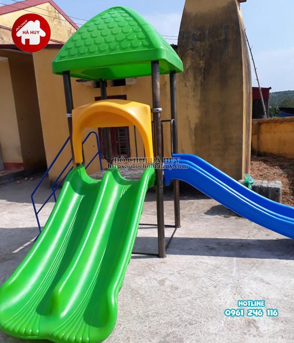 Lắp đặt bàn giao nhà chòi cầu trượt, máy tập gym cho bé tại Hưng Yên-7