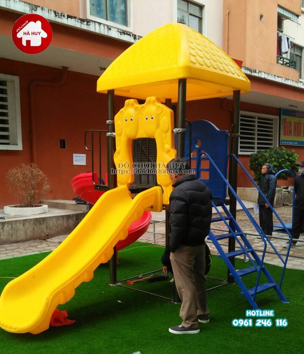 Lắp đặt đồ chơi ngoài trời tại khu vui chơi cho bé tại Phúc La, Hà Đông-2