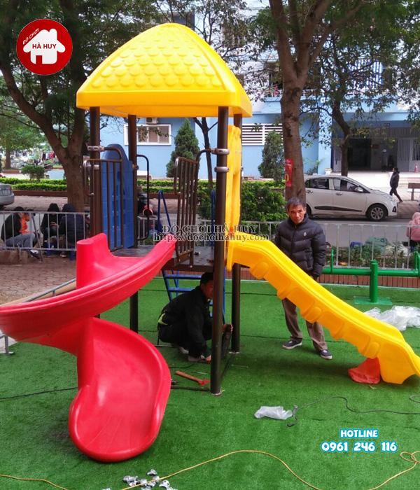 Lắp đặt đồ chơi ngoài trời tại khu vui chơi cho bé tại Phúc La, Hà Đông-3