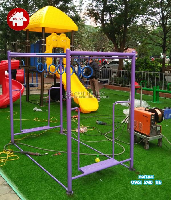 Lắp đặt đồ chơi ngoài trời tại khu vui chơi cho bé tại Phúc La, Hà Đông-4
