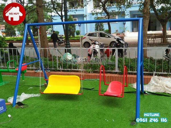 Lắp đặt đồ chơi ngoài trời tại khu vui chơi cho bé tại Phúc La, Hà Đông-5